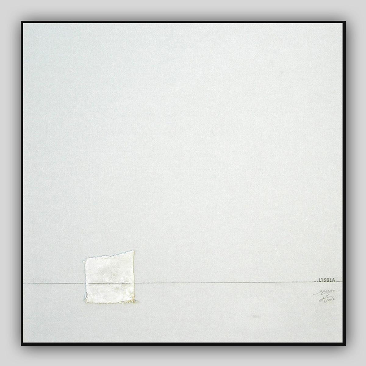 009-EXCURSUS  20016 90X90 cm tecnica mista su lino