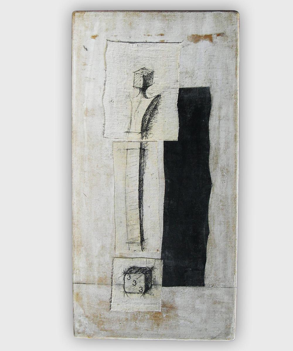 016-PRO-JECTUS (Homo) - 2016 30 x 60 cm    mixed media on canvas panel
