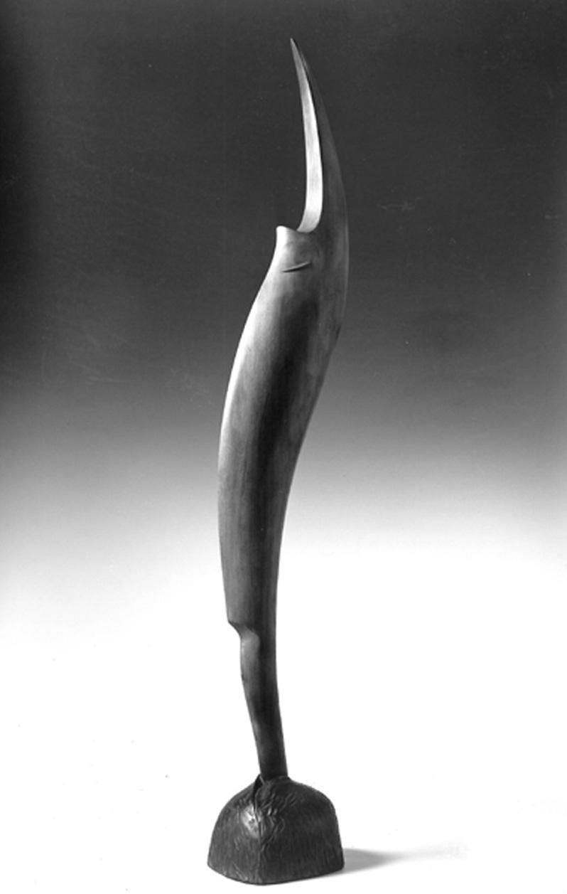 139 - MILES - 1993 - wood / pigment - H= 174 cm.