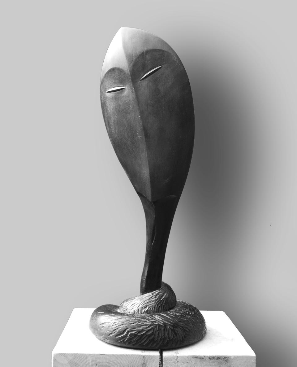 148-SERVUS  -1993  -wood/pigment  -H= 86 cm.