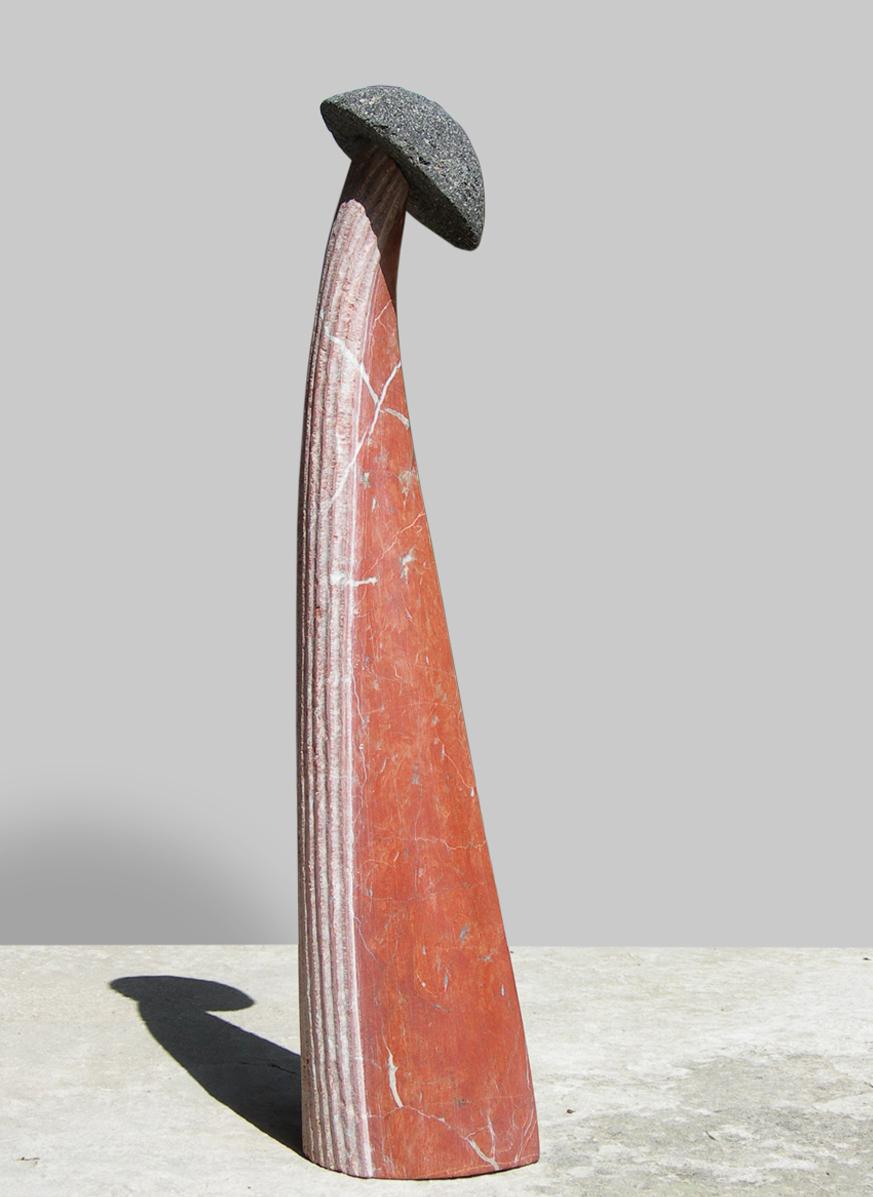 316-BAETYLUS  -2011  -red marble/volcanic stone 50x12x11.5 cm.