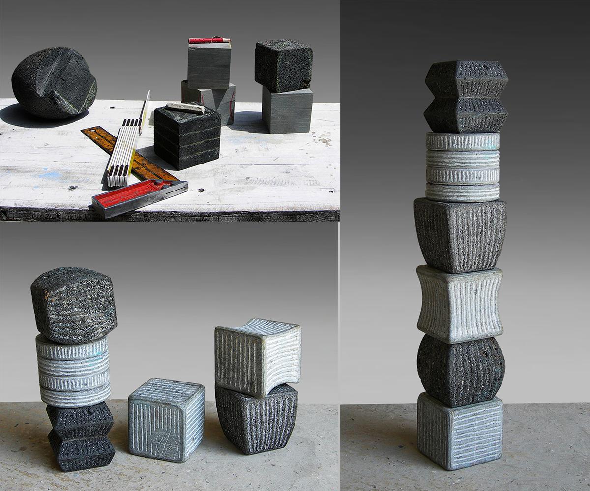 351-TOTEM - 2021 - pietra vulcanica| pietra Cardoso H= 48 cm